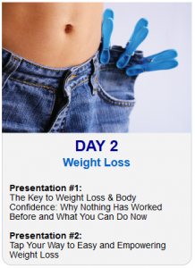 Day 2 Tapping World Summit Weight Loss