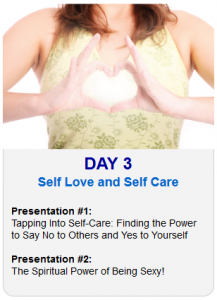 Day 3 2013 Tapping World Summit Self Love and Self Care
